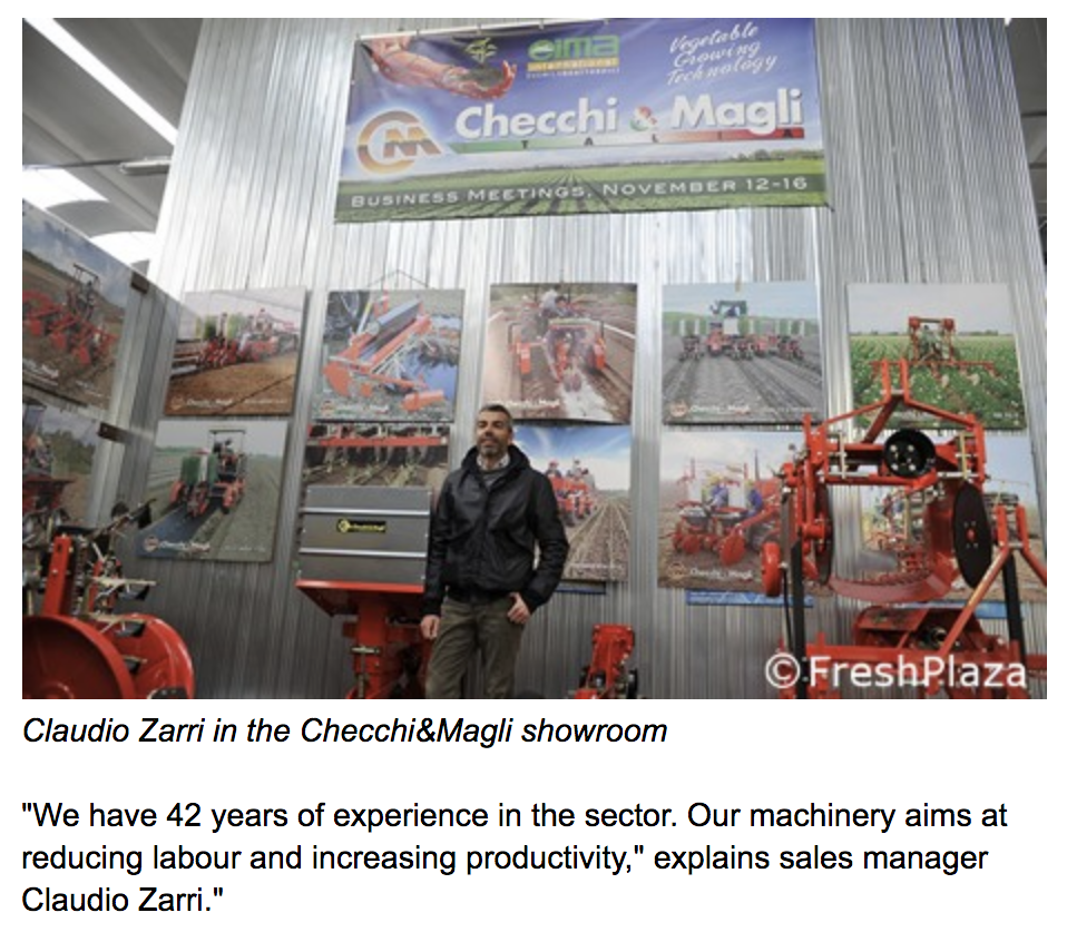 Checchi & Magli transplanter showroom
