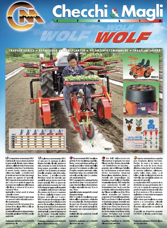 C&M (Checchi & Magli) WOLF transplanter brochure